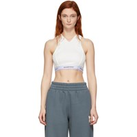 Alexanderwang.T Off White Wash And Go Logo Bra