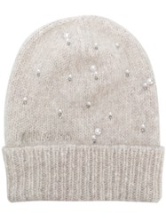 Jimmy Choo Elly Beanie Nude And Neutrals