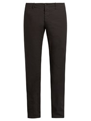 Tomas Maier Slim Fit Cotton Trousers Black