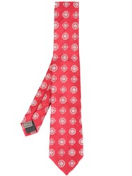 Canali Printed Tie Red
