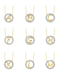 Kc Designs 14K Yellow Gold Diamond Initial Necklace S