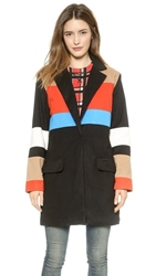 Endless Rose Colorblock Coat Black