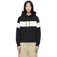 Kenzo Black And White Logo Hoodie