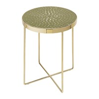 Bloomingville Glass Round Side Table Green