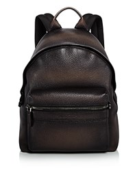 Salvatore Ferragamo Firenze Glow Pebbled Leather Backpack Sepia