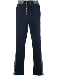 Missoni Side Tripe Track Pants Blue