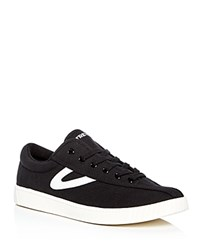 Tretorn Nylite Plus Canvas Lace Up Sneakers Black
