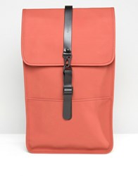 Rains Backpack In Rust Red
