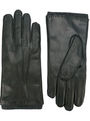 Orciani Leather Gloves Black