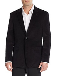 Tommy Hilfiger Regular Fit Corduroy Blazer Black