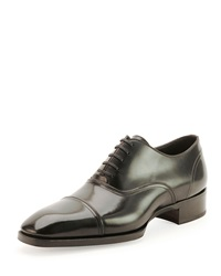 Tom Ford Gianni Cap Toe Lace Up Shoe Black