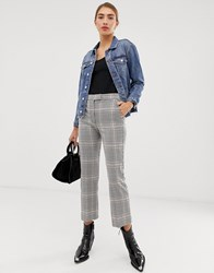 Mango Checked Trouser In Multi