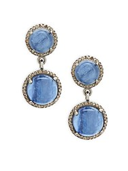 Adornia Kyanite Diamonds Reese Drop Earrings Silver