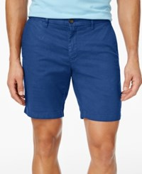 Tommy Hilfiger Men's Denton Straight Fit Stretch Shorts Nautical Blue