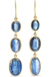 Pippa Small Pacific Blues 18 Karat Gold Kyanite Earrings One Size