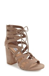 Steve Madden Women's 'Gal' Strappy Lace Up Sandal Taupe