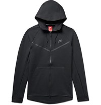 Nike Sportswear Windrunner Cotton Blend Tech Fleece Zip Up Hoodie Black