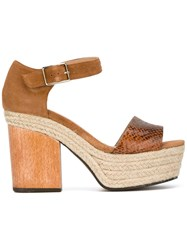 Castaner Flavia Wedge Sandal Nude Neutrals