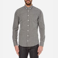 Boss Orange Men's Epidoe Checked Long Sleeve Shirt Open White