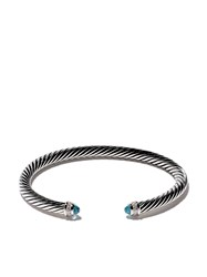 David Yurman Cable Classic Blue Topaz And Diamond Cuff Bracelet Metallic