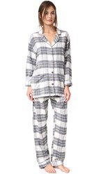 Pj Salvage Plaid Set Natural