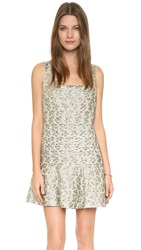 Bcbgmaxazria Malaika Scoop Neck Dress Light Moss Combo
