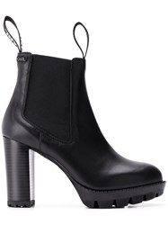 Karl Lagerfeld Chunky Chelsea Ankle Boots Black
