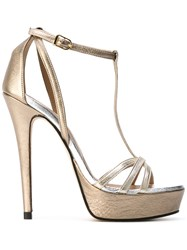 Marc Ellis Platform Sandals Women Leather 39 Metallic