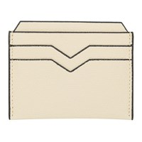 Valextra Off White Leather Card Holder