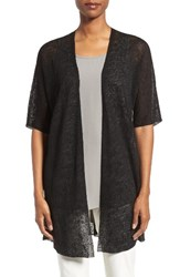 Eileen Fisher Women's Hemp Blend Elbow Sleeve Cardigan Black