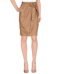 Elisabetta Franchi 24 Ore Skirts Knee Length Skirts Women Light Brown