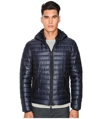 Duvetica Troilo Quilted Down Hooded Jacket Blue Navy Men's Coat