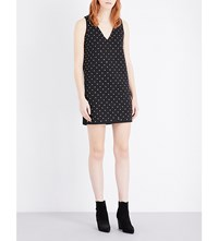 French Connection Diamond Drop Stretch Jersey Dress Black Diamante