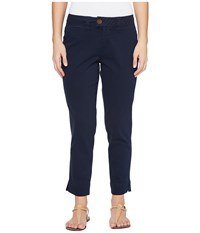 Jag Jeans Petite Creston Ankle Crop In Bay Twill Nautical Navy Women's Casual Pants