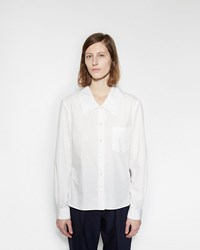 Margaret Howell Low Collar Shirt White