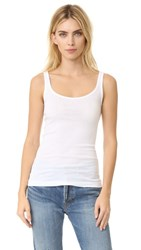 Vince Scoop Neck Tank White