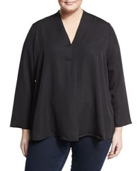 Nic Zoe Majestic V Neck Relaxed Blouse Light Pink