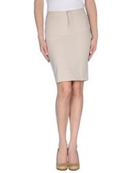 Dekker Knee Length Skirts Light Grey