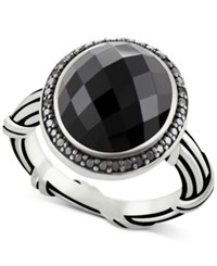 Peter Thomas Roth Onyx 8 2 3 Ct. T.W. And Black Spinel Ring In Sterling Silver