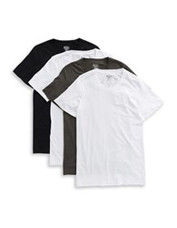 Jockey 4 Pack Cotton Blend Crewneck T Shirts Black Assorted