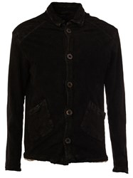 Giorgio Brato Button Up Leather Jacket Black