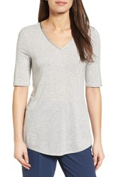 Nic Zoe Women's Coveted V Neck Top Heather Grey