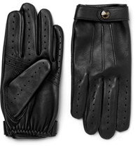 Dents Fleming Leather Gloves Black