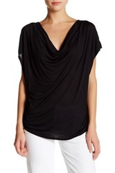 Haute Hippie Cowl Neck Tee Black