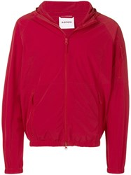 Aspesi Hooded Lightweight Jacket Red