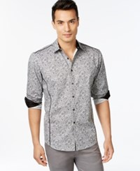 Inc International Concepts Nuffus Contrast Trim Shirt Only At Macy's Grey