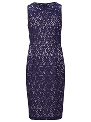Sugarhill Boutique Lace Shift Dress Navy