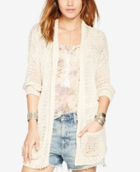 Denim And Supply Ralph Lauren Open Knit Cardigan Natural
