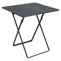 Fermob Plein Air Folding Table Anthracite Speckled Textured White