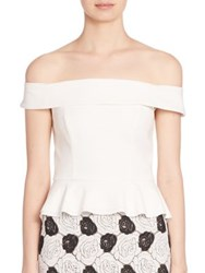 Abs By Allen Schwartz Off The Shoulder Peplum Top Ivory